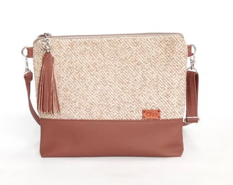 Beige/ Brown/ For/ Her/ Gift/ Valentines Day/ Girlfriend gift/ Wife/ Mom/ womens/ Purse/ Handbag/ Gift idea