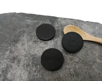 Wooden black beads ethnic shuffleboard beads 30 mm