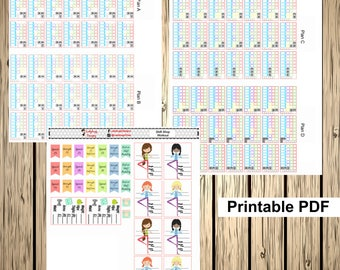 Digital Printable PDF Shift Shop for your Erin Condren and Other Planner