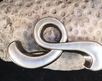 Vintage Norway Andresen & Scheinpflug Sterling Silver Guilloche Enamel Pin