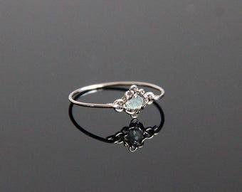 Aquamarine Ring Vintage - Aquamarine Ring White Gold, Aquamarine Ring, Aquamarine Ring Gold, Vintage Gemstone Ring, March Birthstone Ring