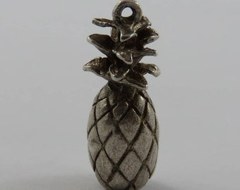Pineapple Sterling Silver Vintage Charm For Bracelet