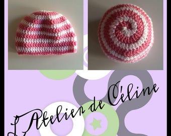 Spiral crochet - newborn baby child Hat Beanie