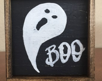 Boo Wooden Sign