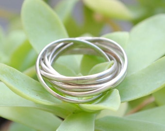 Ring multi rings - silver ring - women ring - ring multiple rings