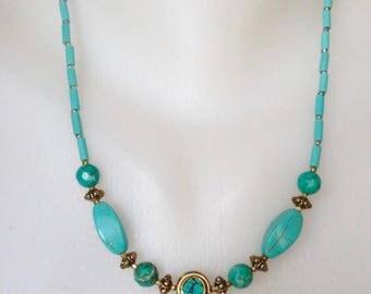 Turquoise Necklace , Tibetan Jewellery , Tibetan Necklace , Beaded Necklace