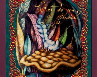 Alice in Wonderland / Smoke Caterpillar/Tapestry/Original digital drawing printing / Brucaliffo / What you smoke ??? Gift