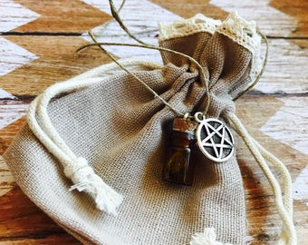 Money Career Finance Attraction Spell Bottle Charm Amulet Talisman Necklace