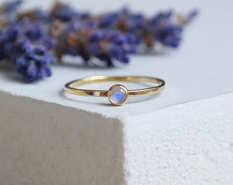 Gold Ring, Moonstone Ring, Gold Moonstone Ring, Stacking Rings, Birthstone Ring, 9ct Gold Ring, Solid Gold Ring, Dainty Ring, Gemstone Ring