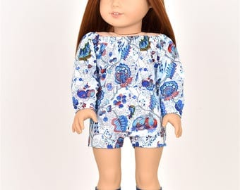 Long sleeve Romper 18 inch doll clothes