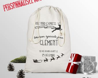 The personalized Santa sack