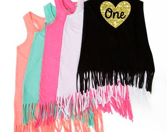 First Birthday - ONE - Heart - Birthday Dress - Birthday Outfit - 1st Birthday - Birthday Girl - Toddler Birthday - Baby's First Birthday