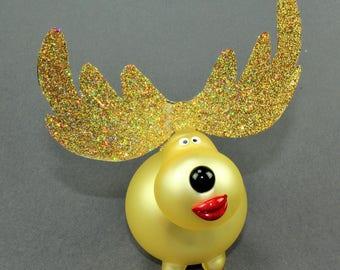 Reindeer, gold bright matt