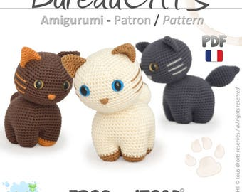 Chats - Amigurumi Crochet Patron - PDF Français