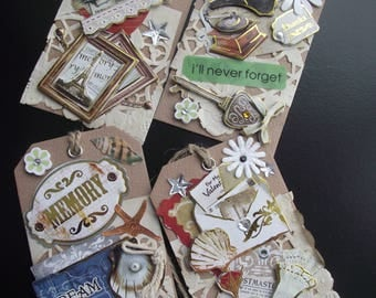 NOSTALGIA GIFT TAGS,Vintage Style Tags,Scrapbook Tags,Scrapbook Craft Supply,Card Making Supply,Paper Crafts,Smash Book,Life Journal,Dream