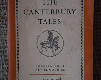 The Canterbury Tales. Chaucer. A Vintage Penguin Book L22. 1958