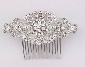 Bridal Hair Accessories, Bridal Hair Combs Silver, Wedding Hair Comb, Bridal Hair Piece, Bridal Hair Clip, Rhinestone Hair Comb, Bridesmaid