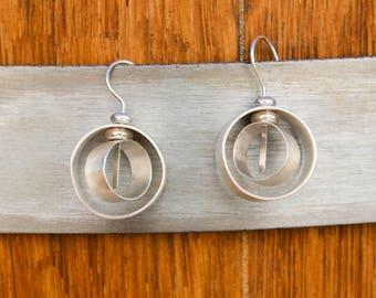 Handmade sterling silver earrings, handmade earrings, sterling silver,