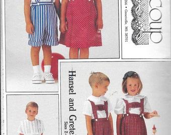 Beaucoup 231 - Hansel and Gretel's Lederhosen - Vintage - OOP - Smocked/Unsmocked - sizes 2 - 6 for both boys and girl's - NIP/Uncut