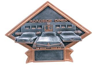 CLOSEOUT - Car Show/50's Theme Diamond Shaped Award - Car Show Trophy