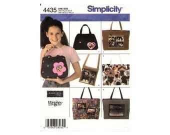 Simplicity 4435 Photo Frame Bags Pattern Elaine Heigl 7 Views Uncut