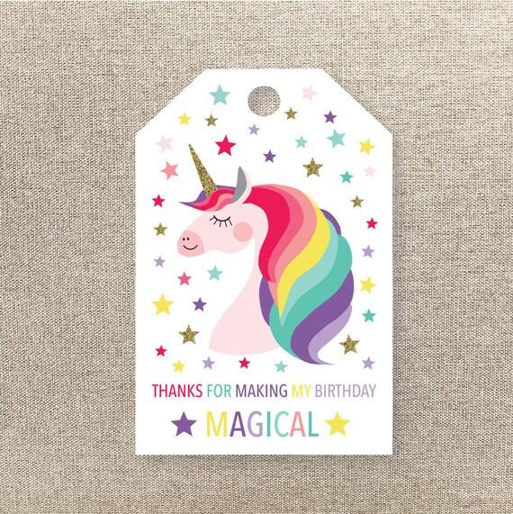 Unicorn Favor Tags Unicorn Favour Tags Printable Favour