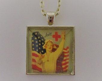 Nurse Pendant, Nurse Necklace, Nurse Jewelry, Nursing School Gift, Nursing School Graduation Gift, Gift for Nurse, Glass Photo Pendant