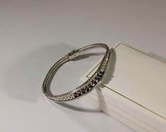 Bracelet Silver 835 Sapphire Vintage Elegance SA287