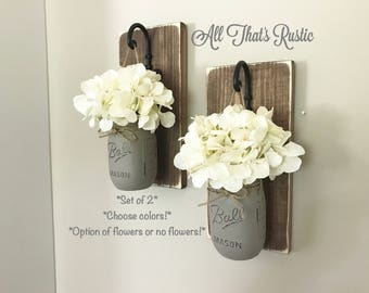 Wall Decor, Mason Jar Sconce, Mason Jar Decor, Farmhouse Decor, Rustic Home Decor, Home Decor, Wall Sconce, Mason Jar Wall Decor, Mason Jars