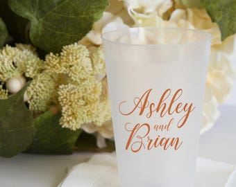 Personalized Wedding Shatterproof Wine Cups, Frosted Cup, Wedding Cups,  Wine Cup, Bar Cups, Shower Cups (WP-16)