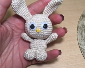 peluche Amigurumi crochet rabbit, gift idea for her and for him, birthday present, bunny rabbit crochet