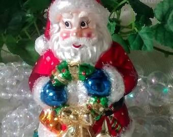 ON SALE Radko Look-Alike Santa Christmas Ornament