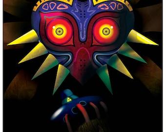 Legend of Zelda - Prelude to Majora's Mask signed video game wall art poster / fine art print