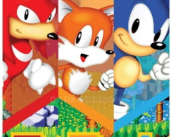 Sonic Trilogy Countdown signed video game wall art poster / fine art print