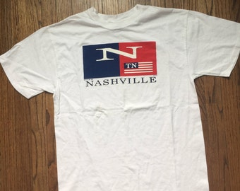 Vintage 1998 Nashville Tennessee TN Tourist T-shirt Size L Large Made in USA