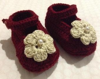 Mary Jane Booties, Baby Girl Booties, Crochet Booties, Baby Booties, Crochet Baby Shoes, Baby Mary Janes, Newborn Booties, Baby Shower Gift