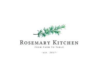 Rosemary Logo Design Herbs Logo Design Food Logo Cooking Logo Design