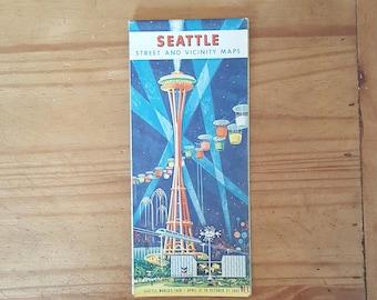 Seattle street map- 1962 Seattle World's Fair edition