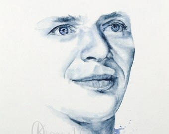 Frank Sinatra Watercolor Portrait