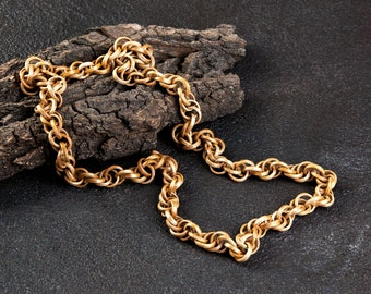 Vintage wooden chain necklace