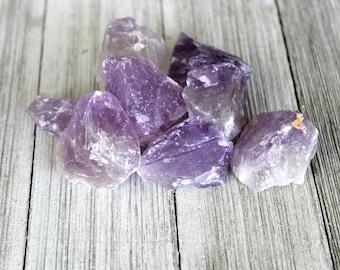 ONE Raw Amethyst Crystal, Uruguay Crystal, Third Eye Chakra, Crown Chakra Healing Stone, Psychic Protection Stone, Meditation, Birthday Gift