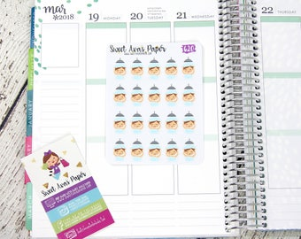 Wash Hair Planner Stickers | Shower Stickers | Wellness Stickers | Ava Stickers | Adulting Award Stickers | Character Stickers | 620