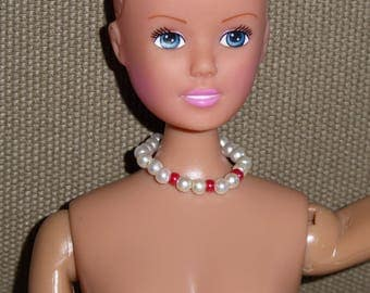 Red beads jewelry for Barbie - handmade - 29 cm doll - 11'' to 11,5 ''doll - fashion royalty-monster high