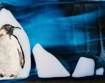 Glaciers passing- Emperor Penguin