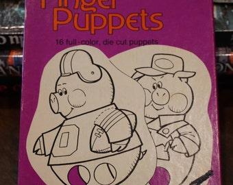Vintage Fairy Tale Finger Puppets/Trend Enterprises/1975/ Vintage Elementary  School / 1975