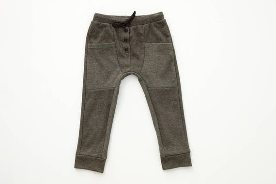 SAUGE - dress pant, skinny fit for kids: boys and girls - grey twill