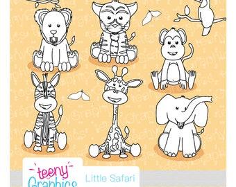 Little Safari Stamp,Small Commercial use, Safari,Jungle animals,Digital stamp,Vector stamp,Download,ScrapBooking - stamp01