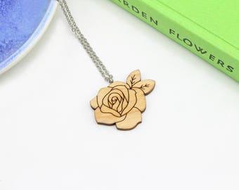 Rose Necklace | Laser Cut Nature & Flower Jewellery