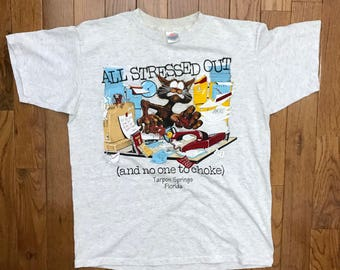 Vintage All Stressed Out T-shirt // Tarpon, FL