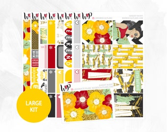 August in NYC Large Kit - Matte Glossy Erin Condren Planner Stickers